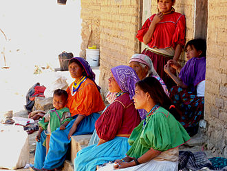 Huichol people - Huichol women and children