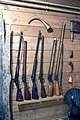 Hunting weapons in Suur-Savo museum.JPG