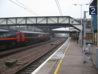 Huntingdon railway station, which has a direct link to Kings Cross in London.