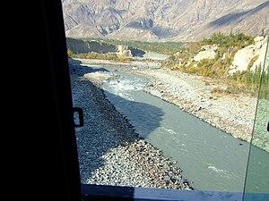 Hunza River - Hunza river view from Danyor bridge