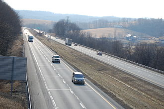 Interstate 70 in Pennsylvania - Interstate 70 through Buffalo Township in Washington County, Pennsylvania