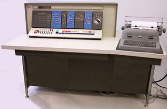System console - IBM 1620 console, with a typewriter and front panel