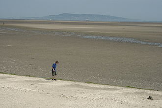 Ulysses (novel) - Sandymount Strand looking across Dublin Bay to Howth Head
