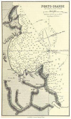 Porto Grande Bay - 1884 nautical chart of Porto Grande Bay