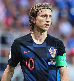 Luka Modrić Croatian footballer