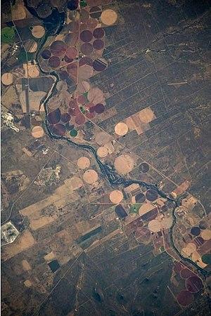 Crocodile River (Limpopo) - NASA picture of the Crocodile River south of Thabazimbi