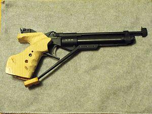 Baikal IZH-46M - Baikal IZH 46 pistol with Left Hand grips