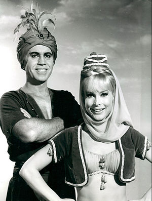 I Dream of Jeannie - Eden with husband Michael Ansara as The Blue Djinn (1966)