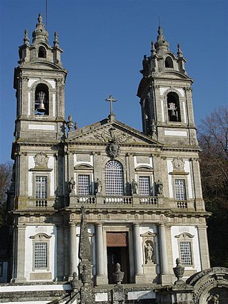 Bom Jesus do Monte - Façade of the church of Bom Jesus