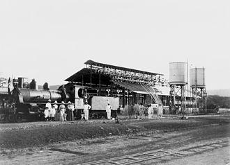 Ethio-Djibouti Railways - Alfred Ilg and his family at the train station in Dire Dawa