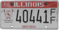 Illinois Firefighters Memorial license plate 1st type.png