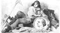 Illustrirte Zeitung (1843) 01 005 1 Medaille des Tunnelbauvereins auf Sir I. Brunel mit einem Tunnelgräber als Schildhalter.PNG
