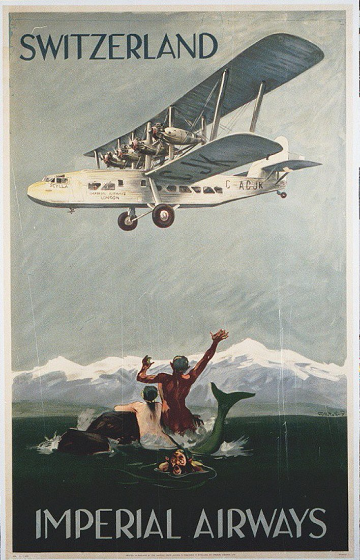 Imperial Airway Switzerland Poster (19471597542)