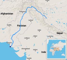 Rio Ganges Mapa Fisico.Rio Indo Wikipedia La Enciclopedia Libre