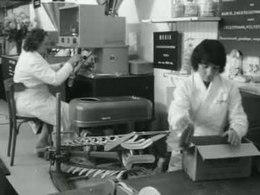 Bioscoopjournaal uit 1959. Industrie-vakbeurs Machevo '59 in de Jaarbeurs te Utrecht die een beeld geeft van de automatisering anno 1959.