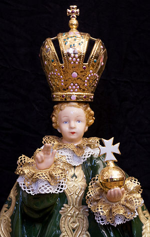 Christ Child - A wax copy of the Czech image of Infant of Prague.
