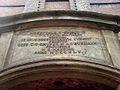 Inschrift in Latein über dem Garteneingangs-Portal des mittleren Flügels Stift zum Heiligen Geist Hannover.jpg