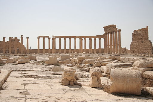 Inside the Temple of Bel, Palmyra