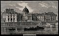 Institut de France, Paris; as seen from the river. Wood engr Wellcome V0014335.jpg