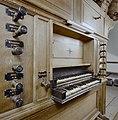 Interieur, aanzicht klaviatuur van het orgel, orgelnummer 1740 - Zandeweer - 20359335 - RCE.jpg