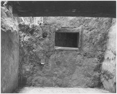 "Interior showing wall and window, ""Interior at Ruin, Cliff Palace, Mesa Verde National Park,"" Colorado, ""1941."", 1941 - NARA - 519945.tif"