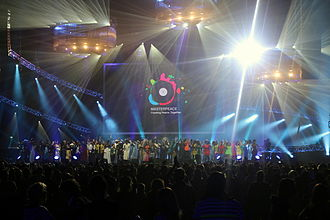 International Day of Peace - The concert of INTERNATIONAL DAY OF PEACE at Amsterdam's Ziggo Dome. 21 September 2014 (organized by MasterPeace)