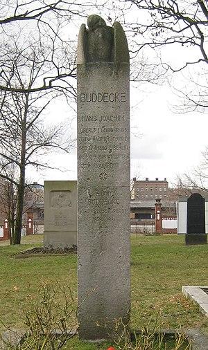 Hans-Joachim Buddecke - Grave of Hans Joachim Buddecke (1918) on the Invalidenfriedhof Berlin