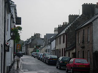 Inverkip village in Inverclyde, Scotland, UK