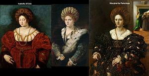 Guimpe - Image: Isabella d'Este vs Margherita Paleologa