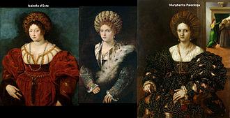 Portrait of Cecilia Gozzadini - Image: Isabella d'Este vs Margherita Paleologa