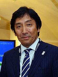 Isshu Sugawara cropped 2 Yukiya Amano Isshu Sugawara and Toshiro Ozawa 20130627.jpg