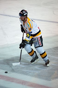 Ivan Švarný - Fribourg-Gottéron vs. HC Litvinov, Exhibition game, 20th February 2010.jpg