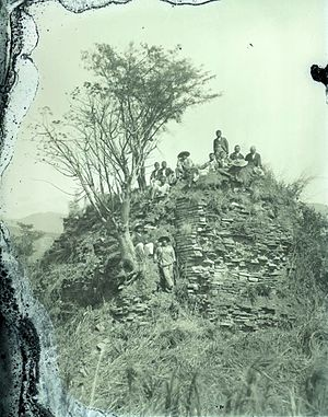 Tecpán Guatemala - Ruins of Iximché, the former Kaqchikel Maya capital city, in the 1920s.