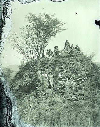 Tecpán Guatemala - Ruins of Iximché, the former Kaqchikel Maya capital city, in the 1920s.