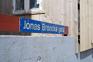 Jonas Bronck - Jónas Broncks gøta, Tórshavn, the Faroe Islands