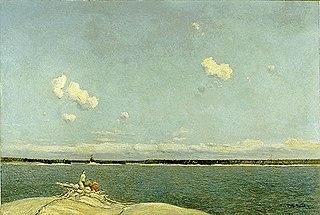 <i>Fine Weather, Georgian Bay</i> painting by J.E.H. MacDonald
