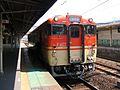 JNR KiHa 40 DMU (JR West) at Himeji Station 2006-04-07.jpg