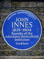 JOHN INNES 1829-1904 Founder of the John Innes Horticultural Institution lived here.jpg