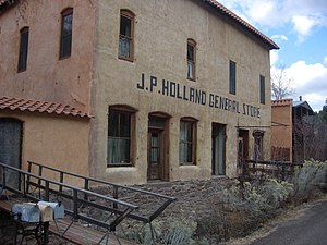 Mogollon, New Mexico - Recent photo of J.P. Holland General Store