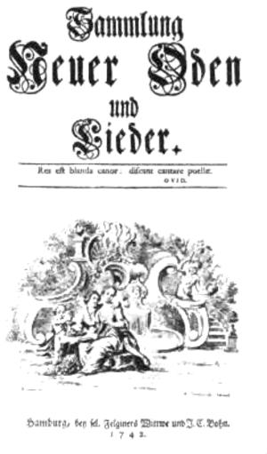 Johann Valentin Görner - Title page of Sammlung Neuer Oden und Lieder (1742)
