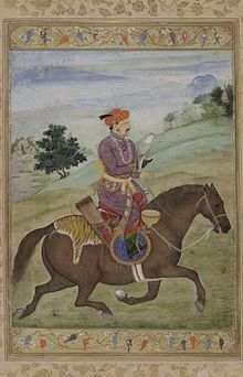 Jahangir hunting with a falcon..jpg