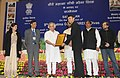 Jairam Ramesh presented the awards for best initiatives and innovations in the Job Scheme, at the 9th MGNREGA Divas, in New Delhi. The Ministers of State for Rural Development (2).jpg