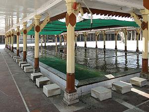 Wudu - Basin for ablutions of the Jama Masjid, Ahmedabad, India
