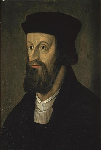 Jan Hus (1369 - 1415) is a key figure of the Bohemian Reformation and inspired the pre-Protestant Hussite movement. Jan Hus 2.jpg