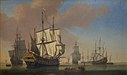 Jan Karel Donatus van Beecq - English Warships in a Roadstead in Calm Weather - KMSsp656 - Statens Museum for Kunst.jpg