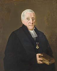 Portret van Ds. Jan Scharp