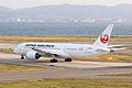 Japan Air Lines, JL60, Boeing 787-8 Dreamliner, JA821J, Departed to Los Angeles, Kansai Airport (16574958864).jpg
