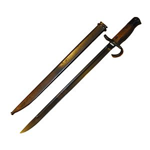 Sword bayonet - Japanese Type 30 bayonet (made between 1894 and 1945), an example of a straight-edged sword bayonet.