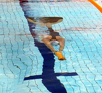 Finswimming - Finswimming with monofin