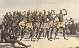 Polynesian culture - Female dancers of the Sandwich Islands depicted by Louis Choris, the artist aboard the Russian ship Rurick, which visited Hawai'i in 1816